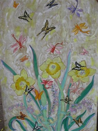 James Paul Brown: Garden Delight Butterflies and Daff