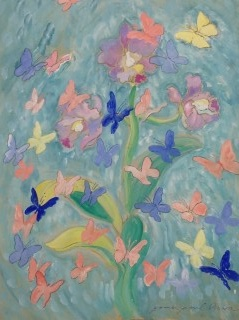 James Paul Brown: Butterflies and a Daffodil