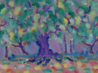 James Paul Brown: Purple forest