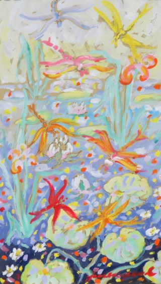 James Paul Brown: Lily Pond and Dragonflies